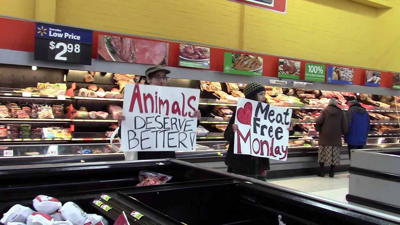 walmart meat protest on meatless monday unscripted dry run for walmart meat protest on meatless monday unscripted dry run for water quality