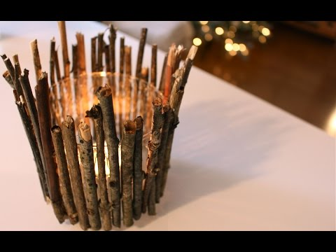 DIY candle holders | RUSTIC