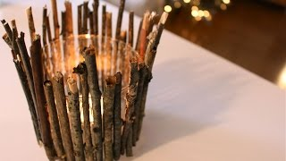 DIY candle holders   RUSTIC