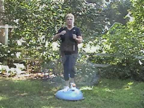 Ladies Golf Tips: Golf Swing Exercise with the Bosu and OrangeWhip