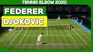 TENNIS ELBOW 2019 - ROGER FEDERER VS NOVAK DJOKOVIC - WIMBLEDON 2019