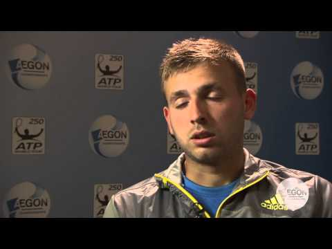 Daniel Evans Post Match Interview on Day 1 at Aegon Championships