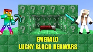 MINI GAME : EMERALD LUCKY BLOCK BEDWARS ** THỬ THÁCH CHIẾN THẮNG CỪU TRONG MINI GAME MINECRAFT