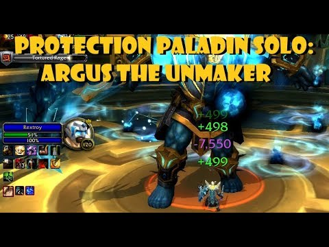 Solo Argus The Unmaker [Prot Pala] [12k DPS]