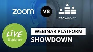 Webinar platform showdown: Zoom vs Crowdcast
