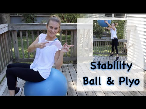 Plyo Intervals with Stability Ball