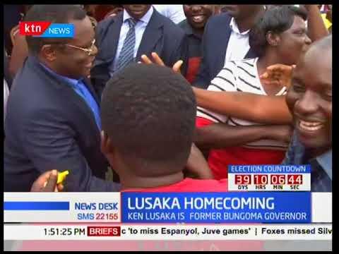 Senate Speaker Kenneth Lusaka receives warm reception in Bungoma