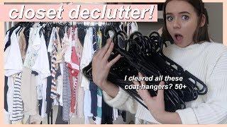 Decluttering my closet! | declutter with me