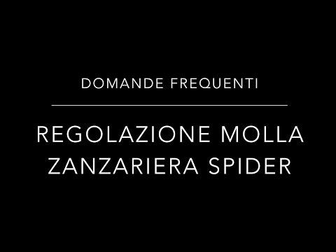 Regolazione Molla Zanzariere Spider