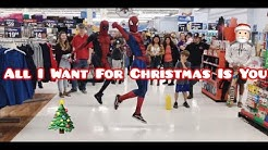 """""""Ghetto Avengers"""" Mariah Carey - All I Want For Christmas Is You (Dance Video)"""