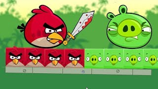 Angry Birds Kick Piggies - RED BEAT THE PIGGIES TO RESCUE ROUND STELLA!