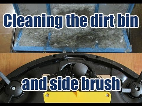 ILIFE X5 Robot Vacuum - Emptying the Dirt Bin and Cleaning the Side Brushes