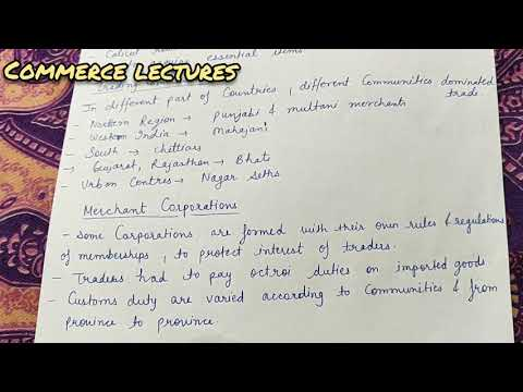 Merchant corporations, major trade centres, major exports and imports (class 11 business studies)