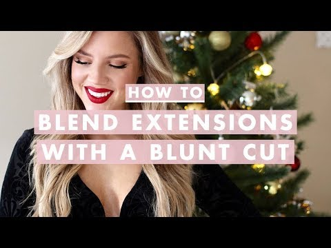 Holiday Hair & Makeup + How to Blend Extensions With a Blunt Haircut
