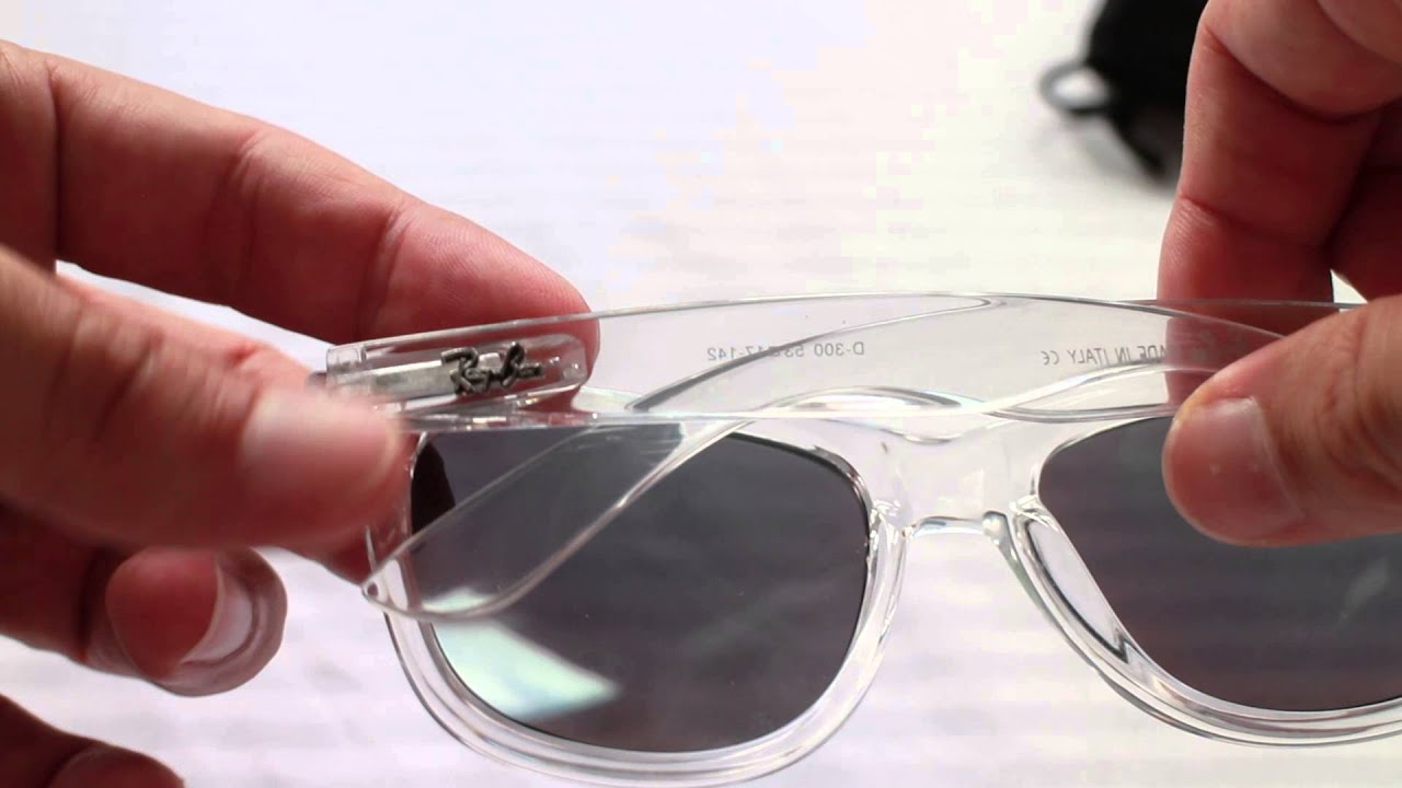 fake transparent Ray Ban sunglasses - YouTube