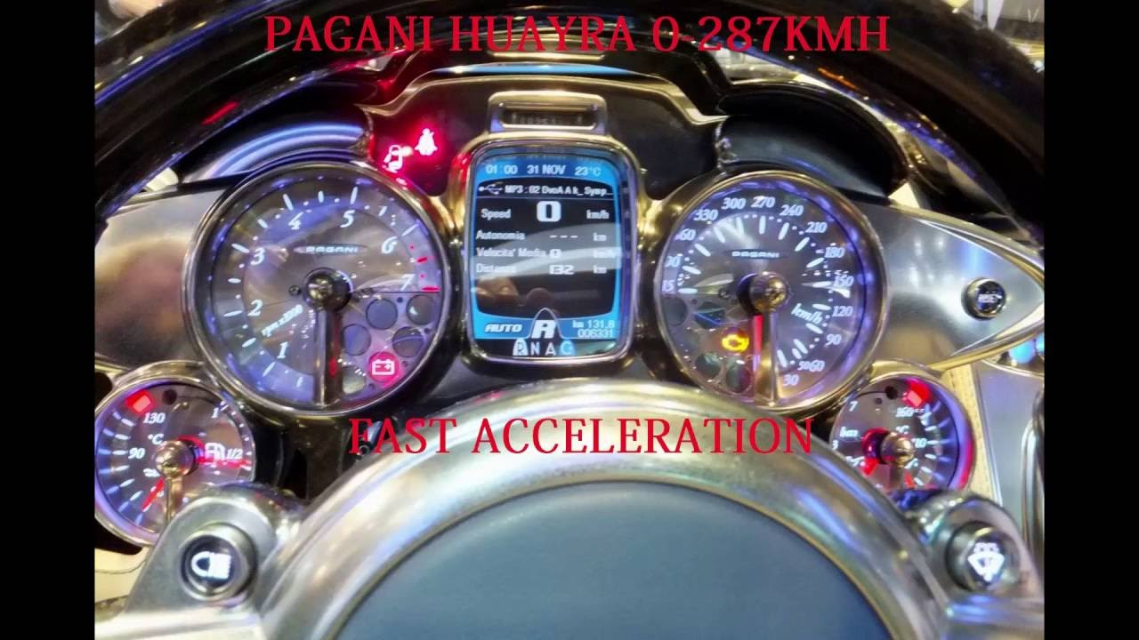 PAGANI HUAYRA ACCELERATION 0-287 KMH - YouTube