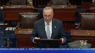 Senate Leaders Reach Agreement On Massive Stimulus Bill.