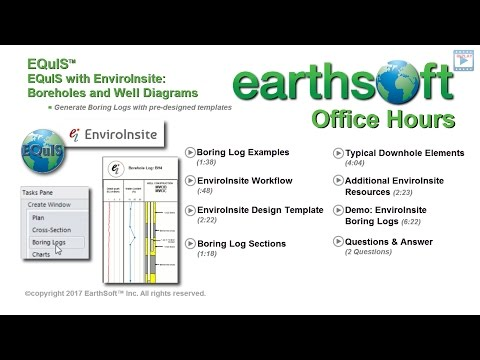 EQuIS with EnviroInsite - Boring Logs and Well Diagrams - 2017