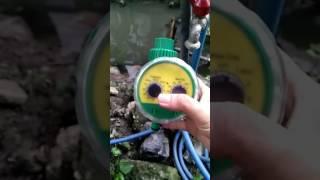 เครื่องตั้งเวลารดน้ำต้นไม้อัตโนมัติ ราคา 550บาท สั่งซื้อโทร 0878718889 Video