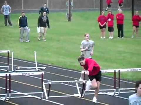 The most extreme high school girls hurdles race you will ever see