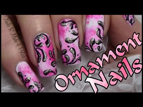 Pink Nails With Ornaments / Chic Nail Art Design Tutorial - Pink Nails With Ornaments / Chic Nail Art Design Tutorial - YouTube