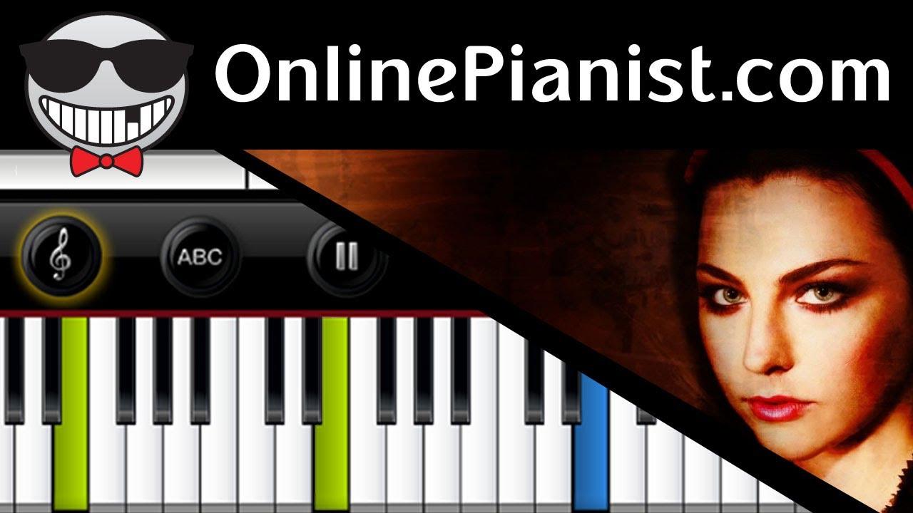 Evanescence My Immortal Piano Tutorial Chords Chordify