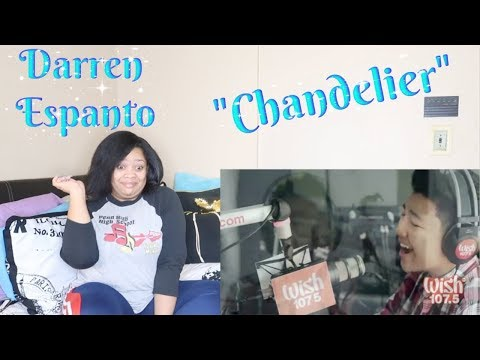 "Darren Espanto-""Chandelier"" CoverReaction{Wish FM 1075 Bus}😱"