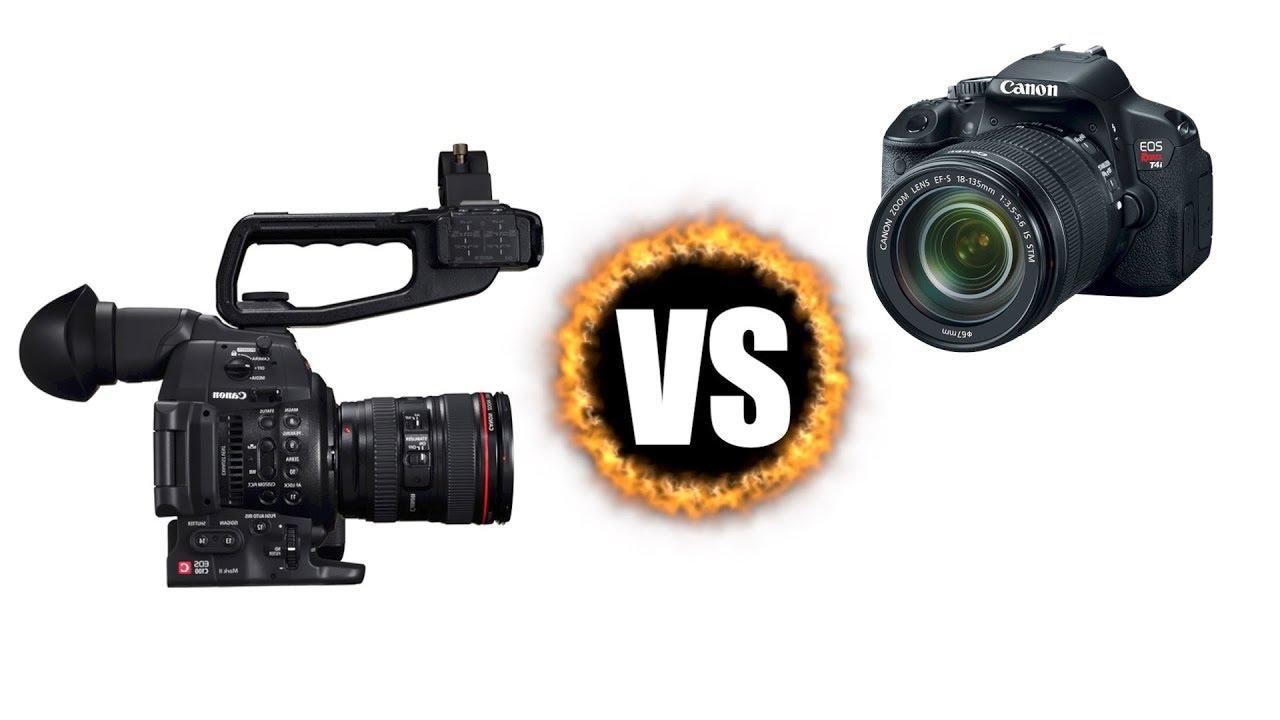 C100 mark ii vs DSLR (Canon 650D) | Camera Comparison