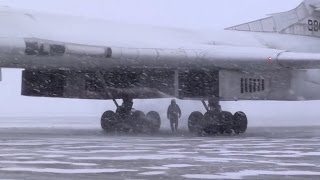 Flying in Arctic on Tu-160
