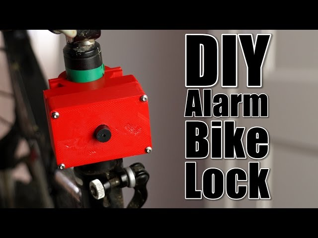 DIY Alarm Bike Lock (Shock Activated)
