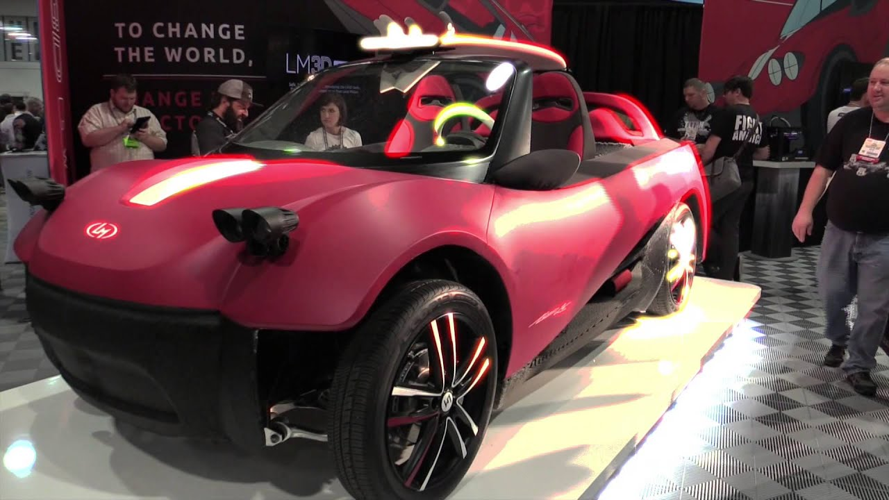 Local Motors Introduces World\'s First 3D-Printed Car - YouTube