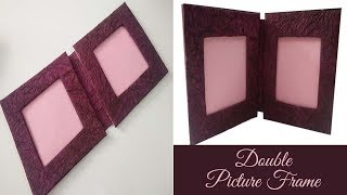 Double photo frame/ Hand made photo frame / Photo frame making at home with cardboard/ PlentyTempty screenshot 2