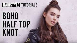 How to style boho half top knot? by Bruno Dviana | L'Oréal Professionnel tutorials