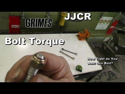 Bolt Torque (How Tight do You Want This Bolt?)