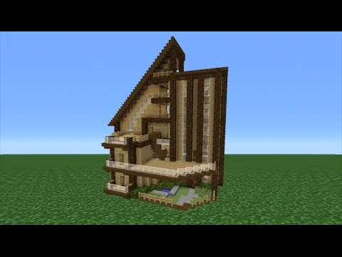 Minecraft Tutorial: How To Make A Big Wooden Mansion - YouTube