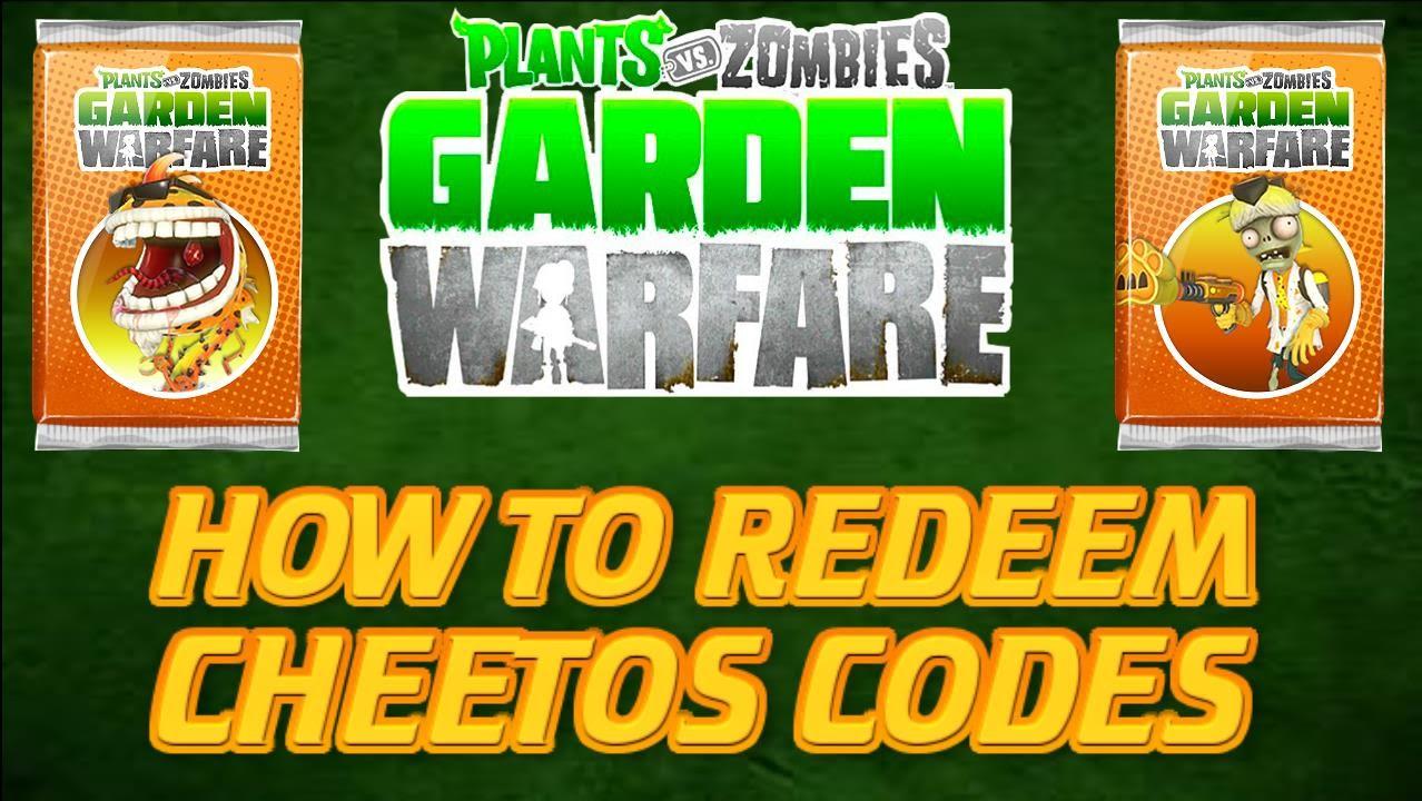 Plants vs Zombies Garden Warfare - How To Redeem Cheetos ...