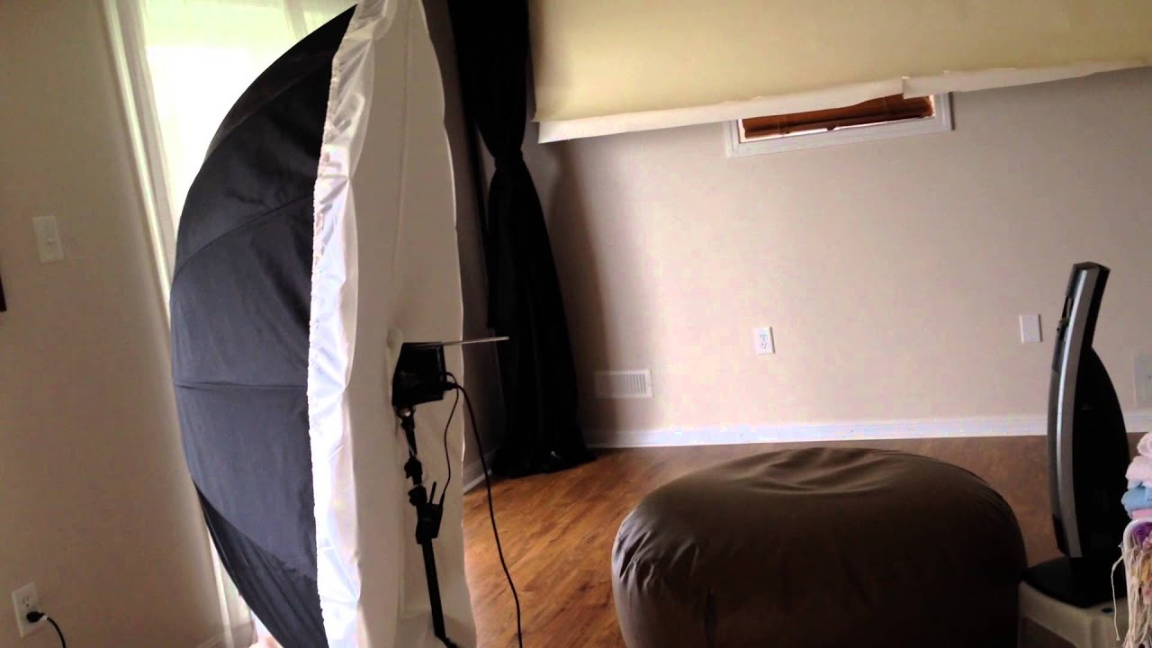 Newborn photography studio set up