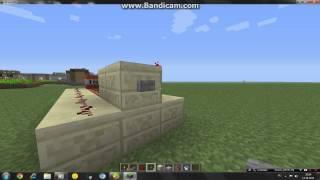 Как сделать пушку которая стреляет динамитом в Minecraft.