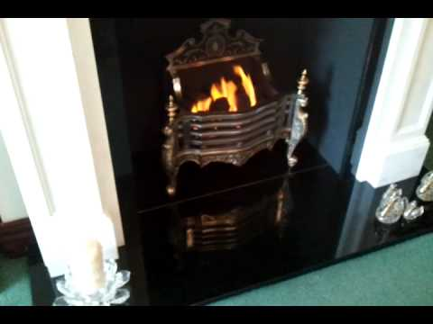 living flame gas fire 39 marble inglenook style from a world. Black Bedroom Furniture Sets. Home Design Ideas
