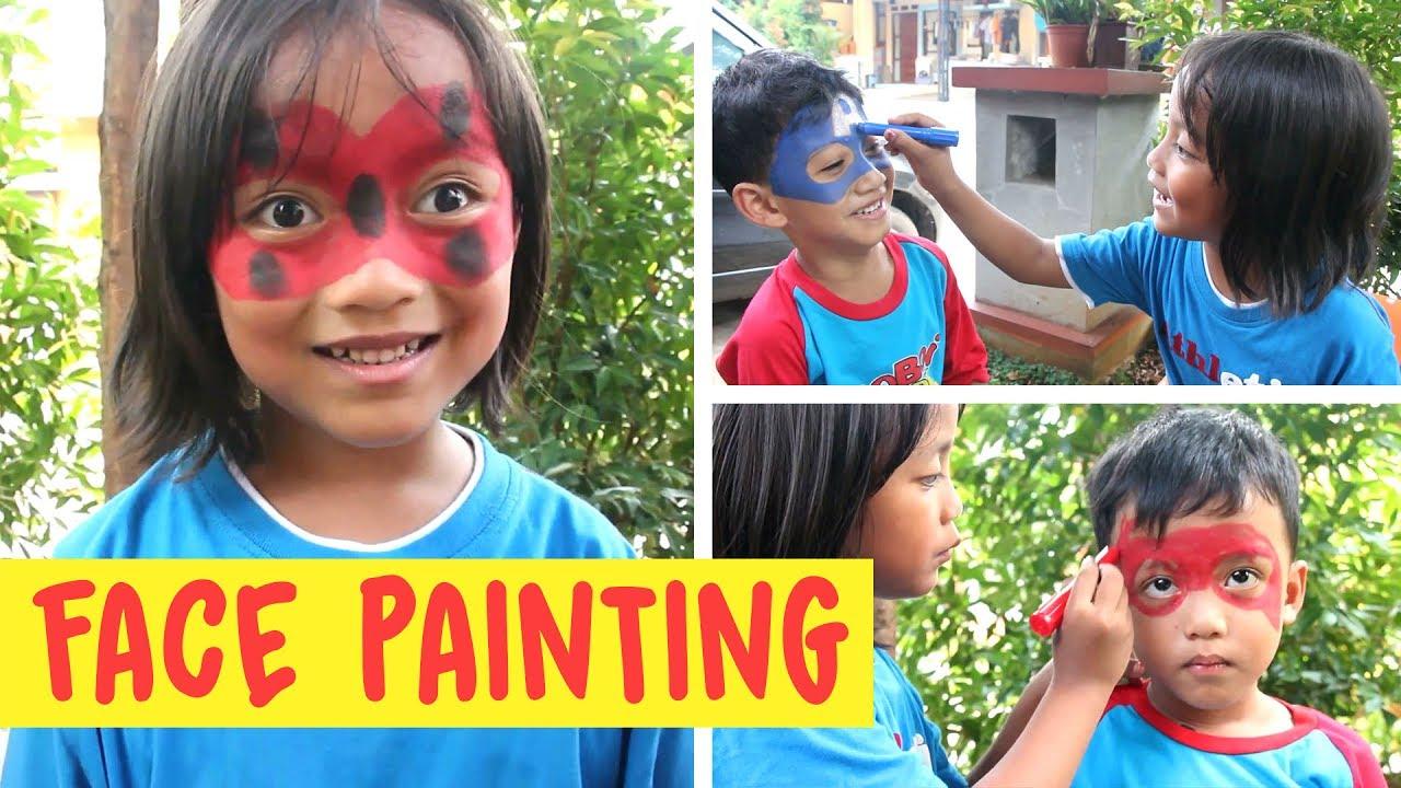 Download Lucu anak-anak corat-coret melukis wajah (Face Painting  bagian 1)