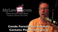 Peter purchased foreclosure property and found abonded personal property