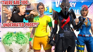 I got 100 UNDERRATED pro players to scrim for $100 in Fortnite... (most SHOCKING winners)