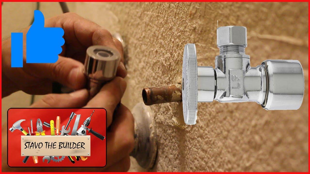 Como cambiar la llave de paso de agua en un baño o cocina (valvula a ...