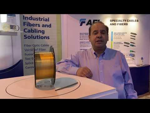 Abdel talk new specialty optical fiber products at OTC 2019