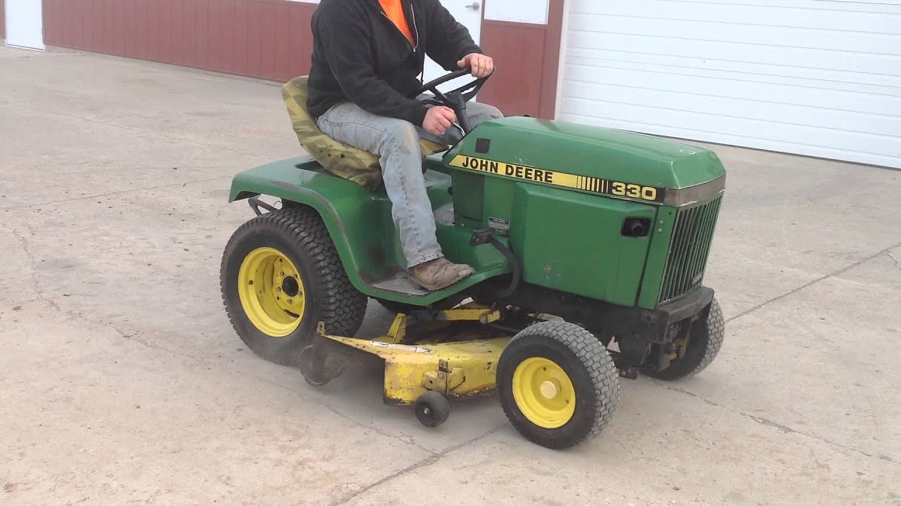 Lawn Mower Diesel : John deere diesel lawn tractor for sale youtube
