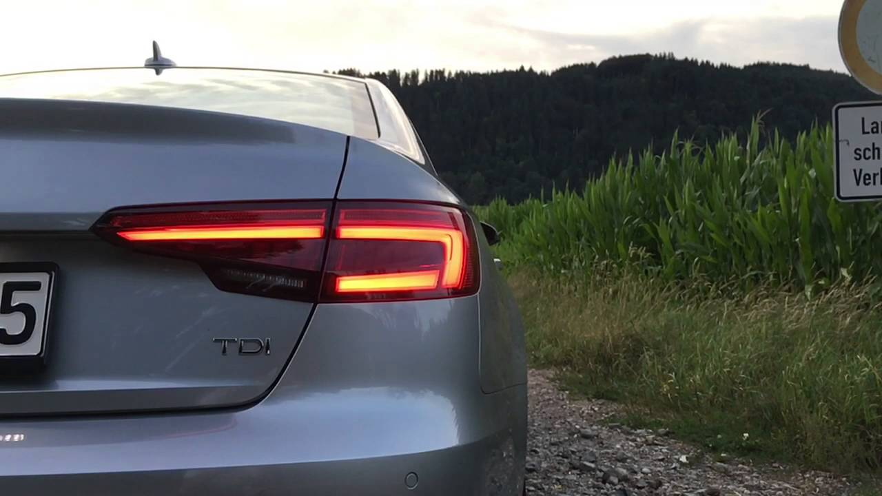 2016 Audi A4 sequential rear turn signal in slow motion - YouTube