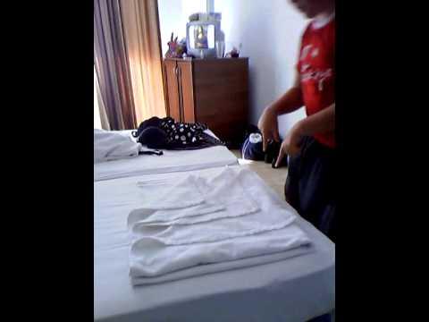 Как красиво сложить полотенце