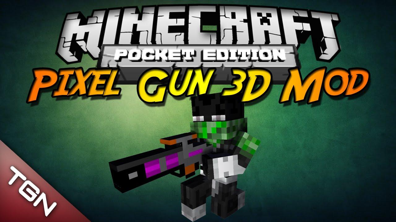 minecraft pe mods guns