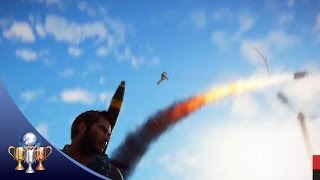 Just Cause 3 My Little Rocket Man Trophy & Achievement ►Tether an enemy to a launched gas canister