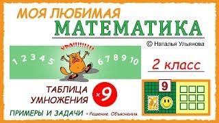 Таблица умножения на 9. Примеры и задачи. Математика 2 класс.